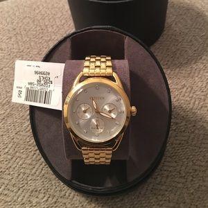 💛Stunning Gold Citizen Chronograph EcoDrive Watch
